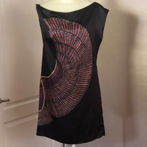 Anthropologie Silk Print Richard Ruiz Shift Dress